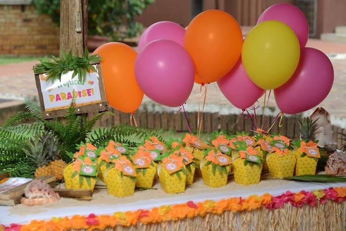 Kara S Party Ideas Hawaiian Luau Themed Birthday Party Via