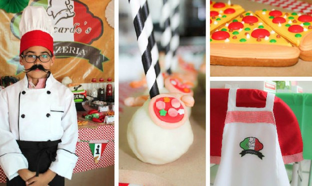 Italian Pizzeria Birthday Party via Kara's Party Ideas KarasPartyIdeas.com #pizzeriaparty (1)