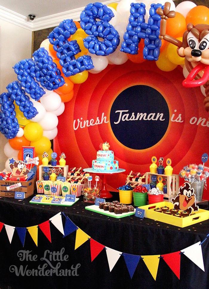 Kara's Party Ideas Looney Tunes Tazmanian Devil themed ...