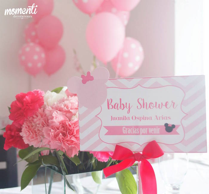 Kara S Party Ideas Minnie Mouse Baby Shower Kara S Party Ideas