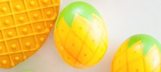 Painted pineapple easter eggs via Kara's Party Ideas | KarasPartyIdeas.com | Kara Allen