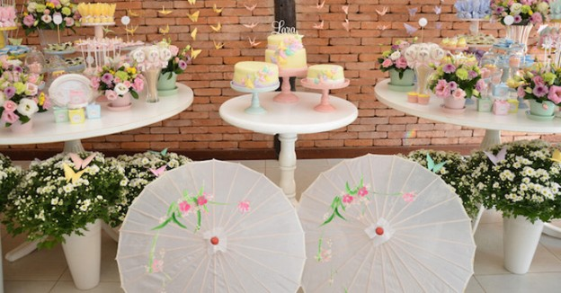 Pastel Japanese Garden Birthday Party via Kara's Party Ideas | KarasPartyIdeas.com #japanesegardenparty (1)