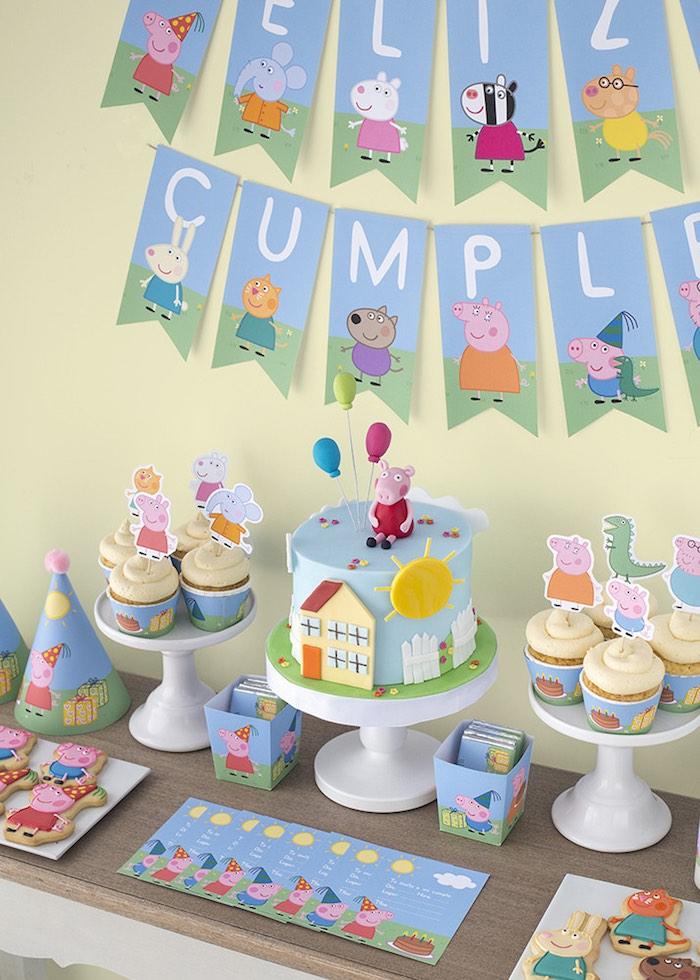 Peppa Pig Th Birthday Cake