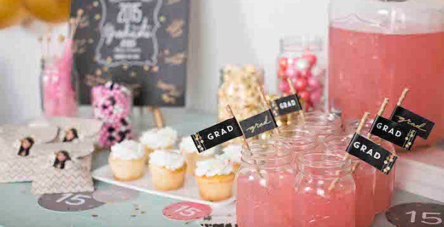 Pink & Gold Graduation Party via Kara's Party Ideas | KarasPartyIdeas.com #graduationparty (1)