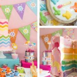 Rainbow Art themed birthday party via Kara's Party Ideas! The Place for ALL Things PARTY! #rainbowartparty (1)