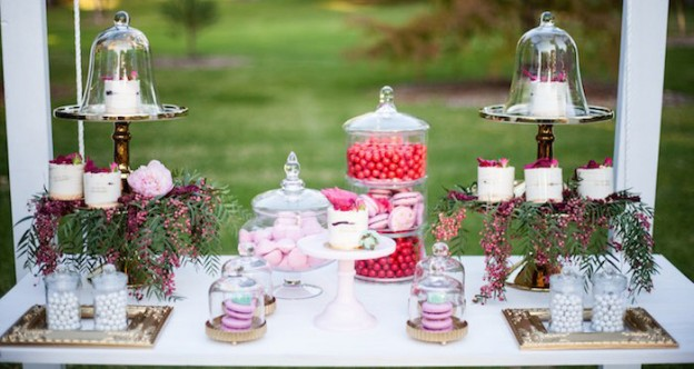 romantic floral dessert table via karas party ideas karaspartyideascom floraldesserttable 1