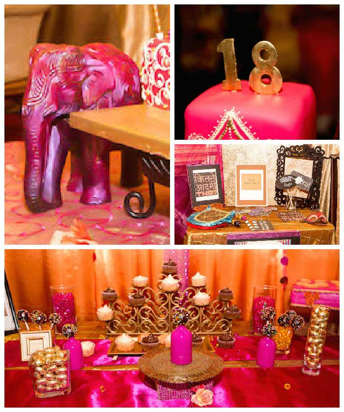 Bollywood Theme Party Decorations Ideas Part - 27: Karas Party Ideas Royal Bollywood Themed 18th Birthday Party Via