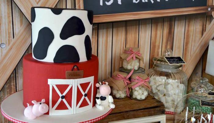 Kara S Party Ideas Rustic Barnyard 1st Birthday Party