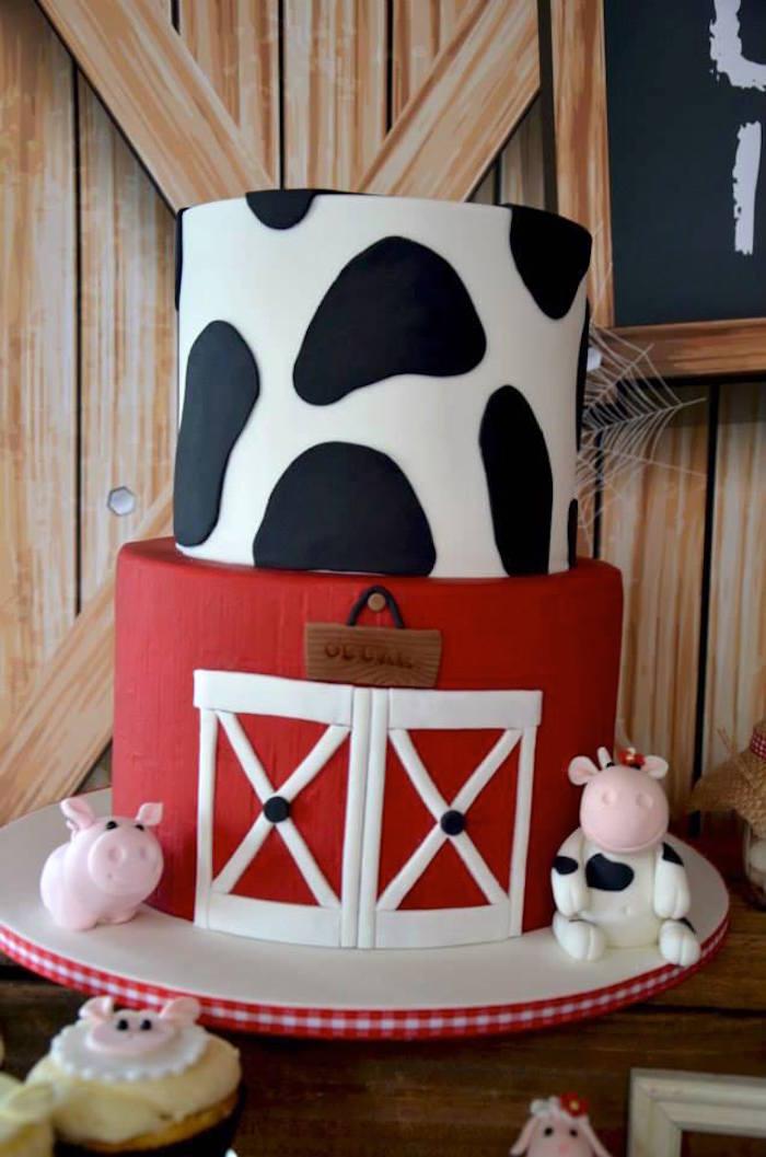 Kara S Party Ideas Rustic Barnyard 1st Birthday Party Via