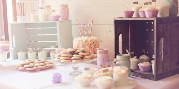 Shabby Chic Vintage 1st Birthday Party via Kara's Party Ideas | KarasPartyIdeas.com #shabbychicbirthdayparty (2)