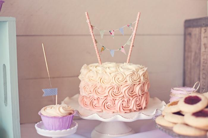 Karas Party Ideas Shabby Chic Vintage 1st Birthday Party via