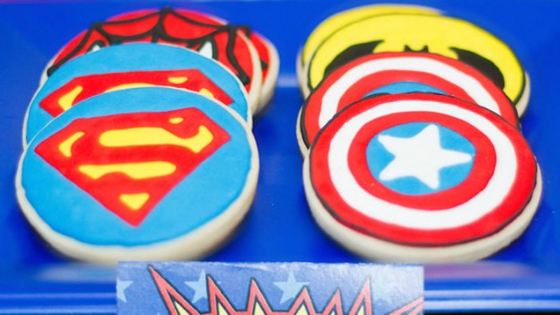 Superhero themed birthday party via Kara's Party Ideas KarasPartyIdeas.com #superheroparty (1)