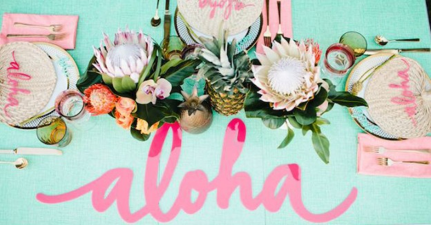 Aloha Luau Bridal Shower via Kara's Party Ideas The Place for All Things Party! KarasPartyIdeas.com #alohaluaubridalshower (1)