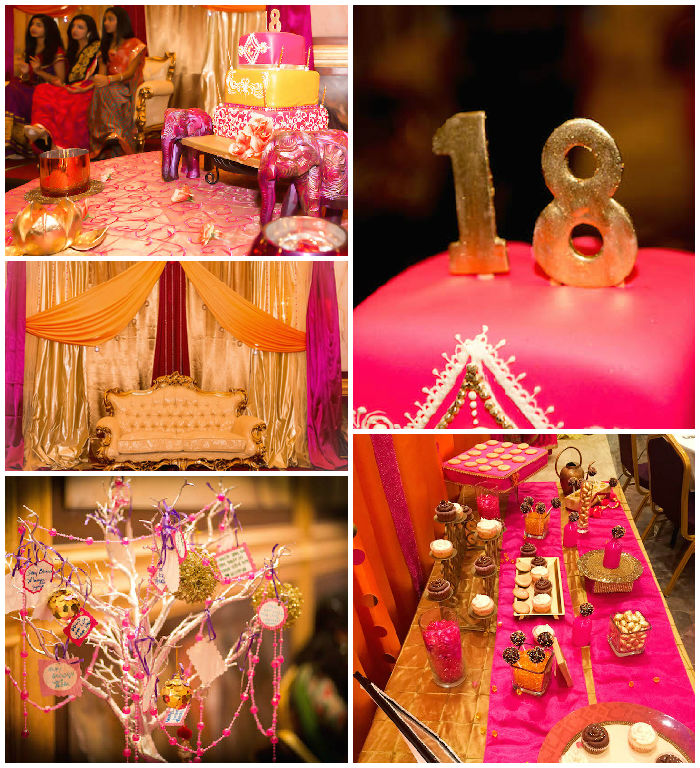 Kara 39 s party ideas royal bollywood themed 18th birthday for 18th birthday party decoration