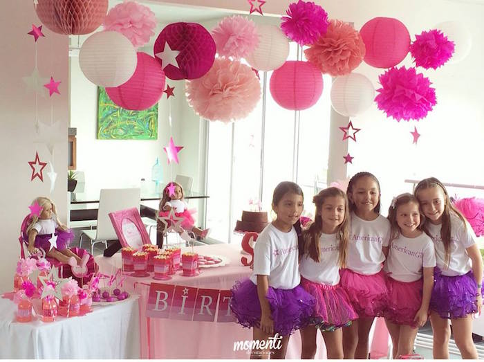 Karas Party Ideas American Girl themed birthday party via Karas