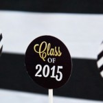 Black + Gold Glamorous Graduation Party via Kara's Party Ideas KarasPartyIdeas.com (2)