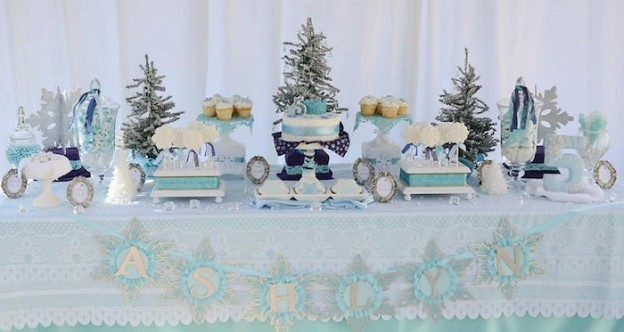 Frozen Birthday Party via Kara's Party Ideas | Party ideas, printables, tutorials, recipes, and more! KarasPartyIdeas.com (1)