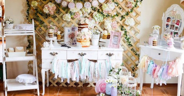Pastel Shabby Chic 1st Birthday Party via Kara's Party Ideas | KarasPartyIdeas.com #shabbychicparty (2)