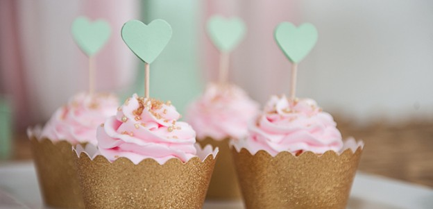 Pink + Mint Glamorous Bridal Shower via Kara's Party Ideas | KarasPartyIdeas.com (2)
