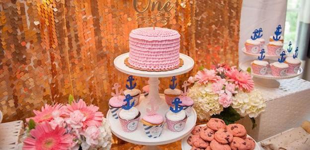 Pink Nautical Birthday Party via Kara's Party Ideas KarasPartyIdeas.com (2)