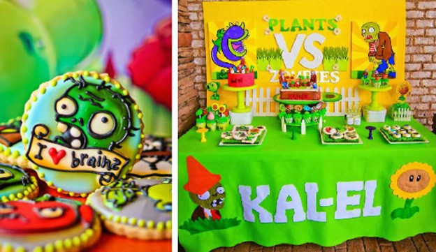 Plants vs Zombies themed birthday party via Kara's Party Ideas | Full of party decorations tips, supplies, printables, recipes and MORE! KarasPartyIdeas.com (2)