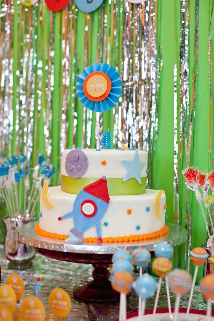 Kara S Party Ideas Rocket Ship Birthday Party Via Kara S