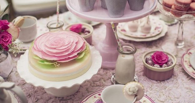 Romantic Tea Party via Kara's Party Ideas | The place for all things Party! KarasPartyIdeas.com (2)