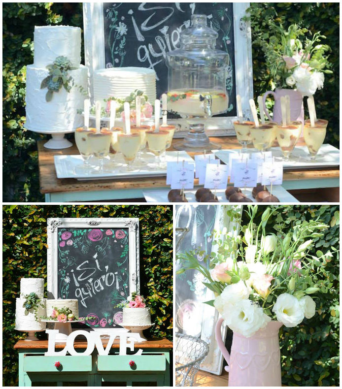 rustic chic bridal shower
