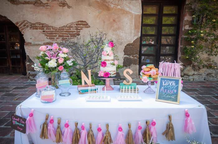 Karas Party Ideas Shabby Chic Book Themed Bridal Shower
