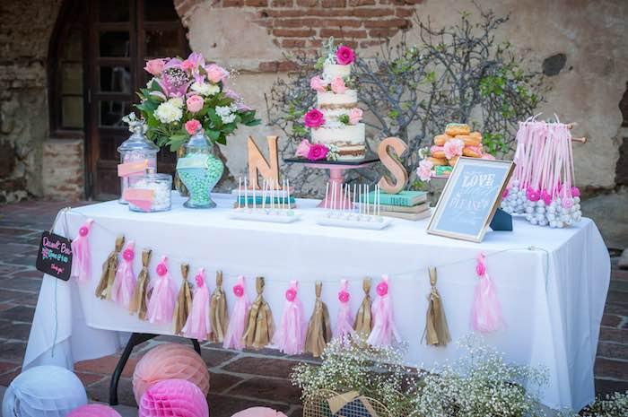 Wedding Shower Ideas Part - 50: Shabby Chic Book Themed Bridal Shower Via Karau0027s Party Ideas | Full Of  Party Ideas,