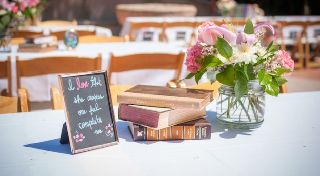 Shabby Chic Book themed bridal shower via Kara's Party Ideas | Full of party ideas, tutorials, desserts, printables, favors, banners, and more! KarasPartyIdeas.com (1)