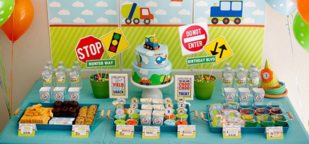 Transportation themed birthday party via Kara's Party Ideas | KarasPartyIdeas.com (3)