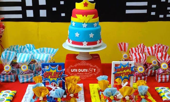 Karas Party Ideas Wonder Woman Birthday Party via Karas Party
