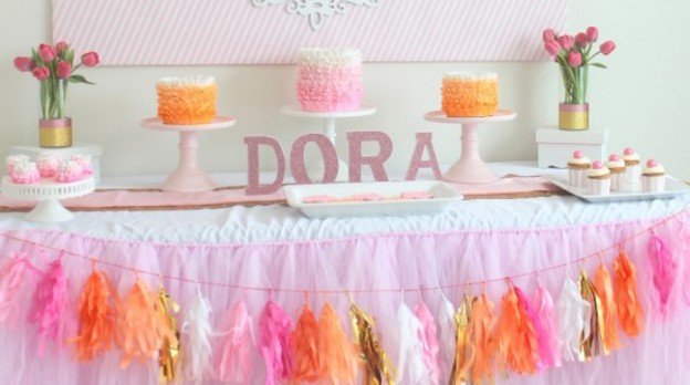 Chic Dora the Explorer Birthday Party via Kara's Party Ideas | The Place for All Things Party! KarasPartyIdeas.com (1)
