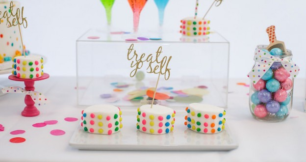 Confetti + Polka Dot Madness themed birthday party via Kara's Party Ideas | KarasPartyIdeas.com (2)