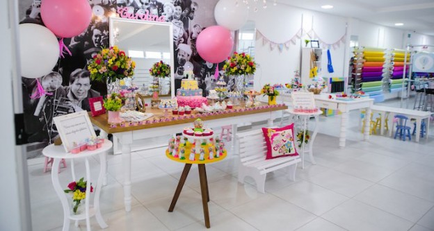 Elegant Boutique + Sewing Birthday Party via Kara's Party Ideas | The Place for All Things Party! KarasPartyIdeas.com (1)