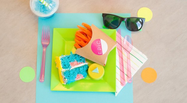 Epic 80's Neon Birthday Party via Kara's Party Ideas | The Place for All Things Party! KarasPartyIdeas.com (2)