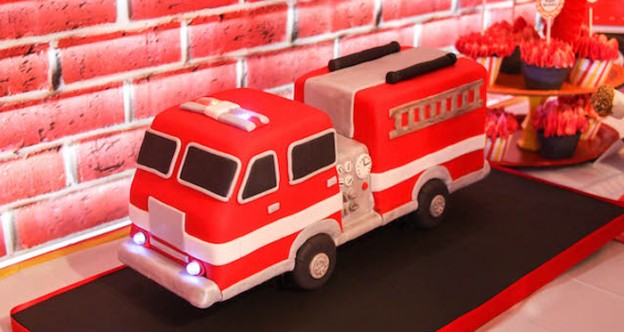 Firehouse + Fireman themed 3rd birthday party via Kara's Party Ideas | KarasPartyIdeas.com (1)