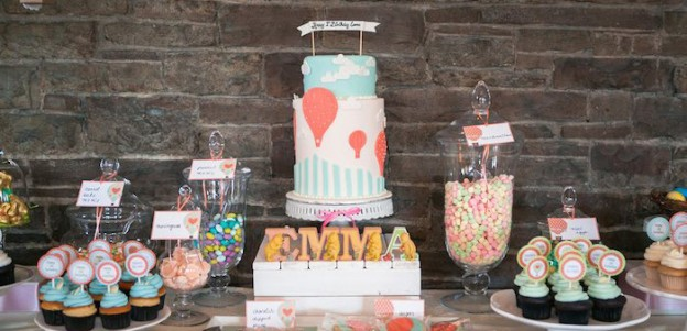 Hot Air Balloon themed birthday party via Kara's Party Ideas | KarasPartyIdeas.com (1)