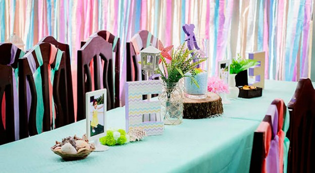 Mermaid themed birthday party via Kara's Party Ideas | KarasPartyIdeas.com (2)