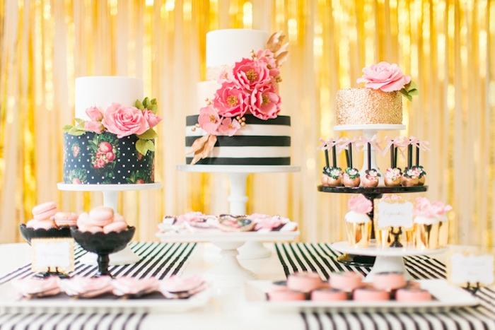Kate Spade Decorating Tips: Kara's Party Ideas Modern Glam Kate Spade Inspired
