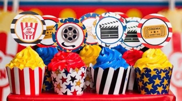 Movie Night themed birthday party via Kara's Party Ideas | KarasPartyIdeas.com (1)