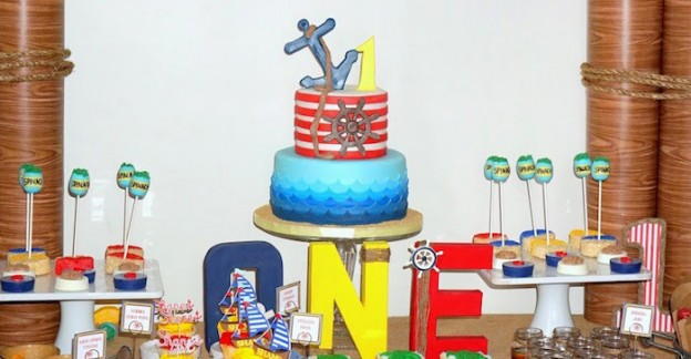 Popeye + Sailor themed birthday party via Kara's Party Ideas! KarasPartyIdeas.com (1)