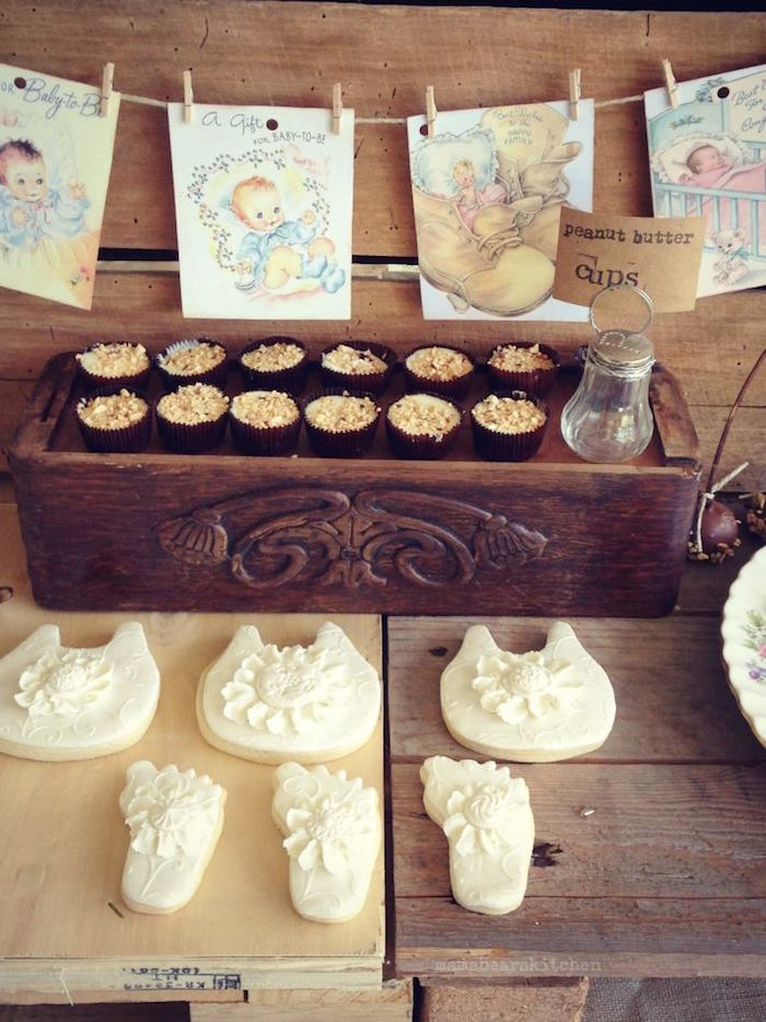 rustic lace baby shower via kara 39 s party ideas