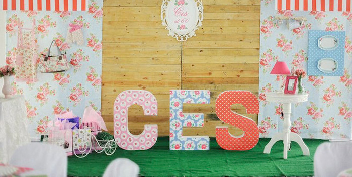Karas Party Ideas Shabby Chic Cath Kidston Inspired 60th Birthday