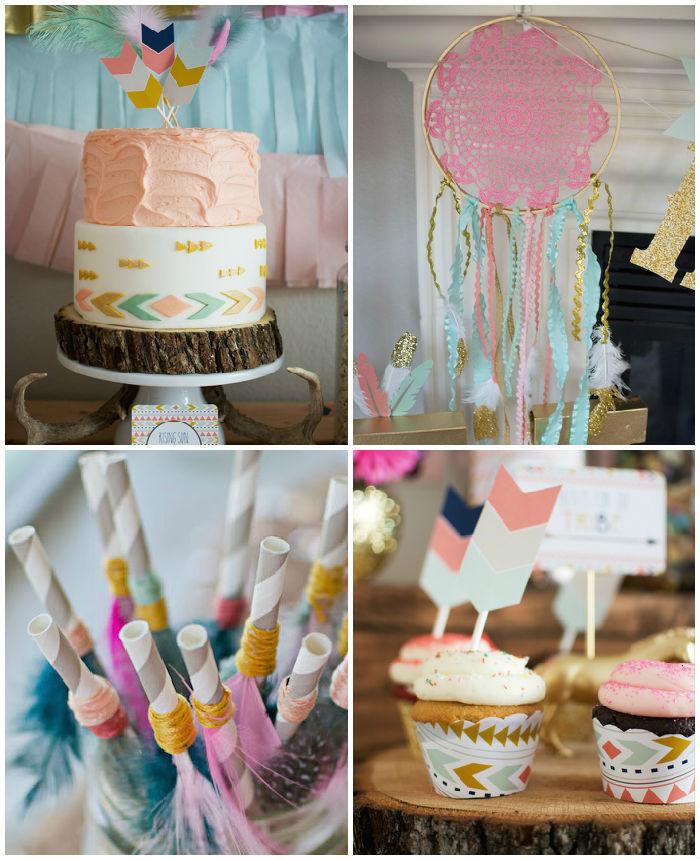 Kara's Party Ideas Tribal Princess themed birthday party ...