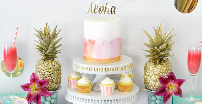 Ideas For The Tropical Themed Wedding: Kara's Party Ideas Tropical Aloha Themed Bridal Shower