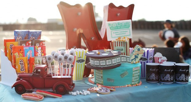 Vintage Glam Drive In Movie Party via Kara's Party Ideas | KarasPartyIdeas.com (1)