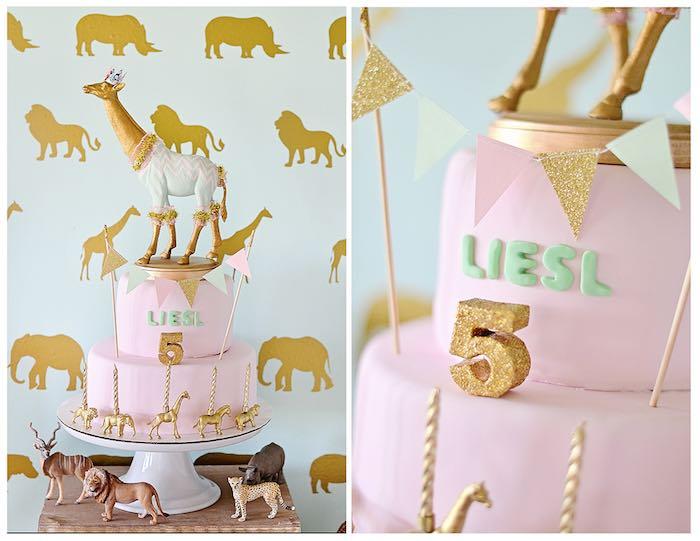 Kara S Party Ideas Vintage Pastel Wild Safari Birthday Party
