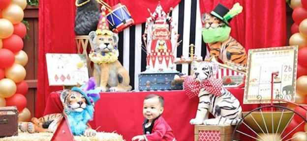 Circus Carnival themed 1st birthday party via Kara's Party Ideas | KarasPartyIdeas.com (2)